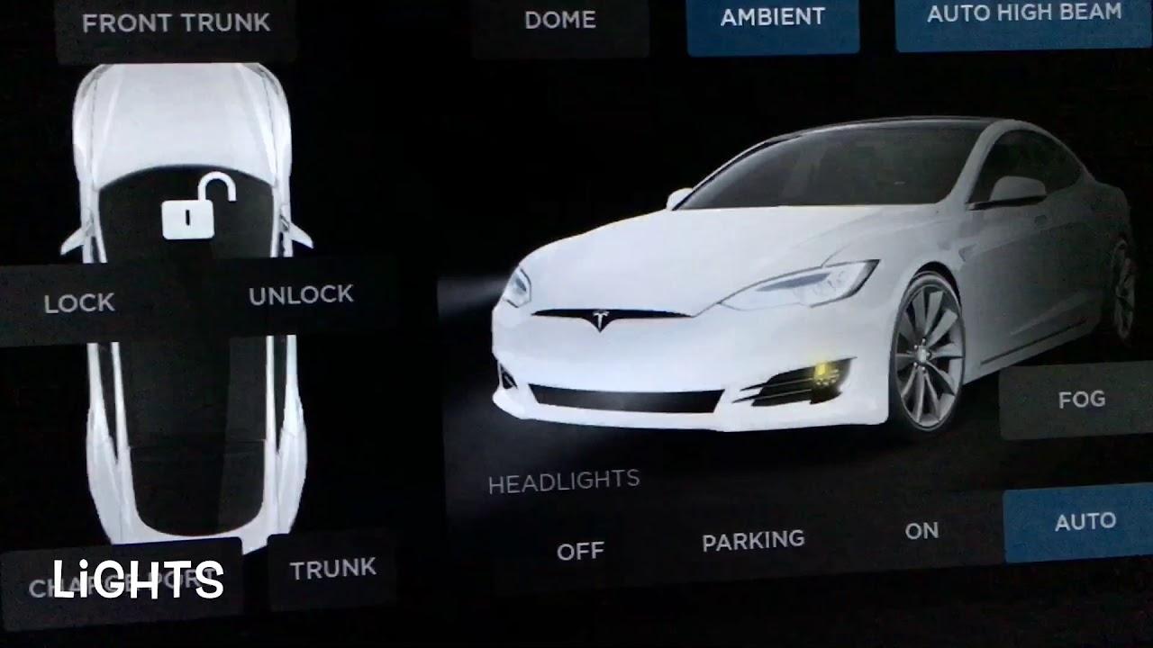 Tesla Model S Exterior & Interior Lights Overview - YouTube