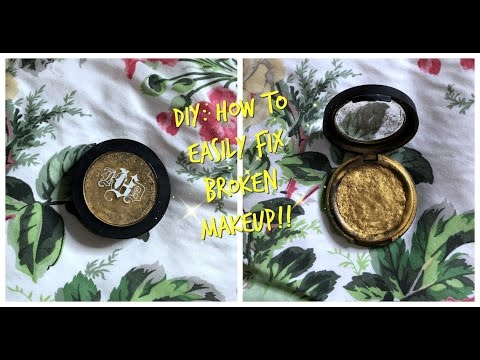 DIY: Fix Shattered Makeup Products! Super Easy!