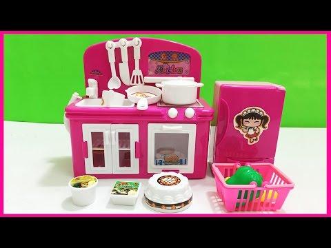 Đồ chơi trẻ em Đồ chơi nấu ăn NHÀ BẾP TỦ LẠNH mini SHOPKINS 24 món (Chim Xinh)
