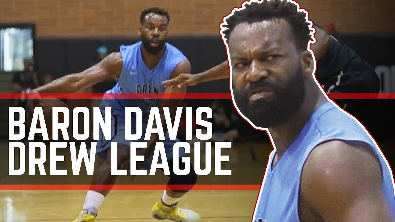 Baron Davis NASTY Handle At Drew League! Former Pro With GAME!