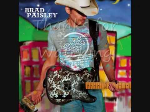 American Saturday Night by Brad Paisley (Lyric/ Picture Video)