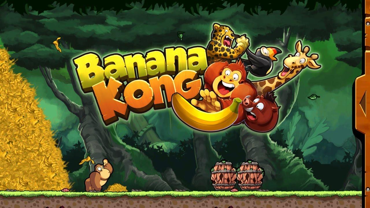 Chơi  Banana Kong khỉ con chạy ăn chuối cu lỳ chơi game lồng tiếng vui nhộn funny gameplay