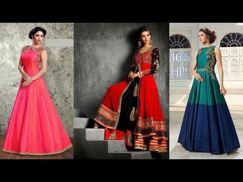 Long Anarkali Gown Dress Designs  Part 04