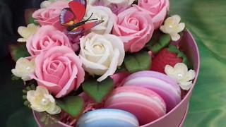 видео Цветочные коробки с макаронс — купить в Санкт-Петербурге