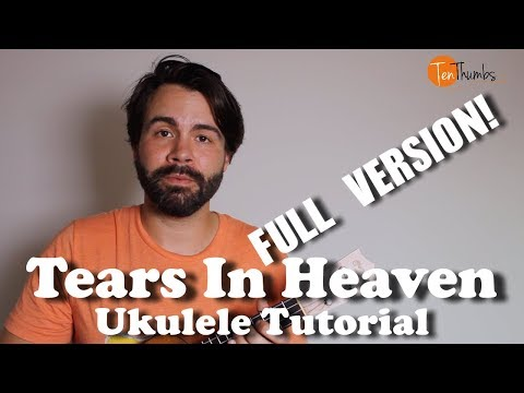 Eric Clapton - Tears in Heaven - Full Fingerpicking Stuido version with tabs, solo, play-along