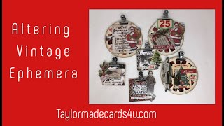 Altering Ephemera to create your Christmas projects