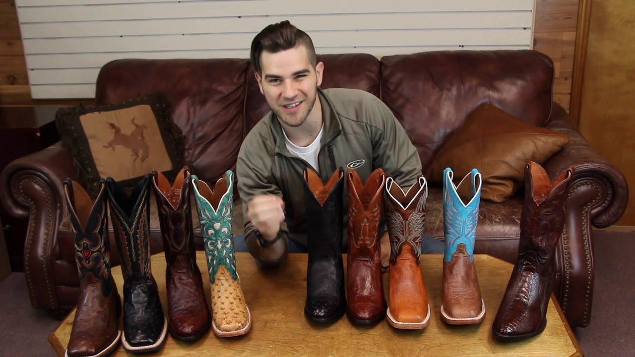 Ostrich Skin Boots Youtube