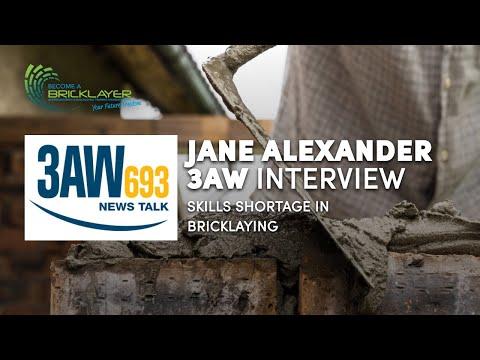 3AW Interview with Jane Alexander - Skills Shortage Brickalying