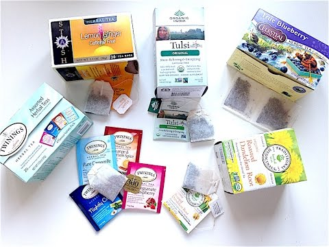 IHERB: Herbal Teas, Celestial, Stash, Twinings, Organic India, Tulsi Holy Basil - Видео обзор