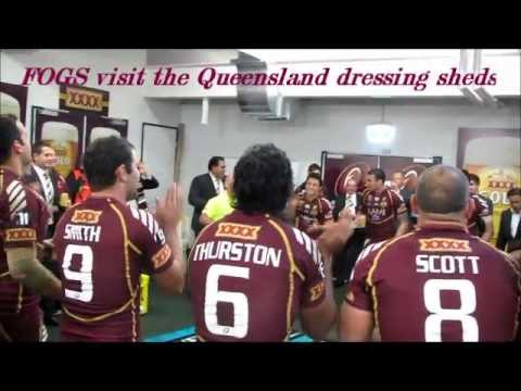 2012 FOGS visit the victorious Queensland Maroons dressing sheds
