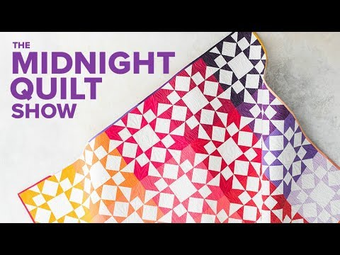 OOPSFamily Reuni Tiled Stars Quilt  Midnight Quilt Show with Angela Walters
