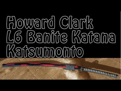 Howard Clark Katana (L6 Banite Steel) Samurai Sword with Aki Mon