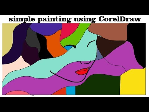 digital painting in CorelDraw | make modern art paintings for home decor in PC using CorelDraw X7
