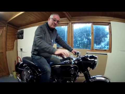 Velocette Venom Starting After Over 30 Years.