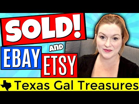 What Sold on Ebay 2018 - Ebay and Etsy Sales Video - Selling For the Move