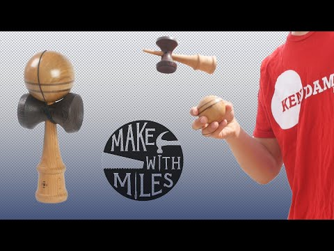 How to Make a KENDAMA! (Japanese skill toy)//woodworking