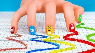 8 лайфхаков для маникюра / Легкий дизайн ногтей – 8 идей маникюра в виде сладостей
