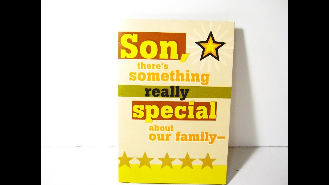 MUSICAL BIRTHDAY CARD For SON PLAYS SHINING STAR By EARTH WIND FIRE