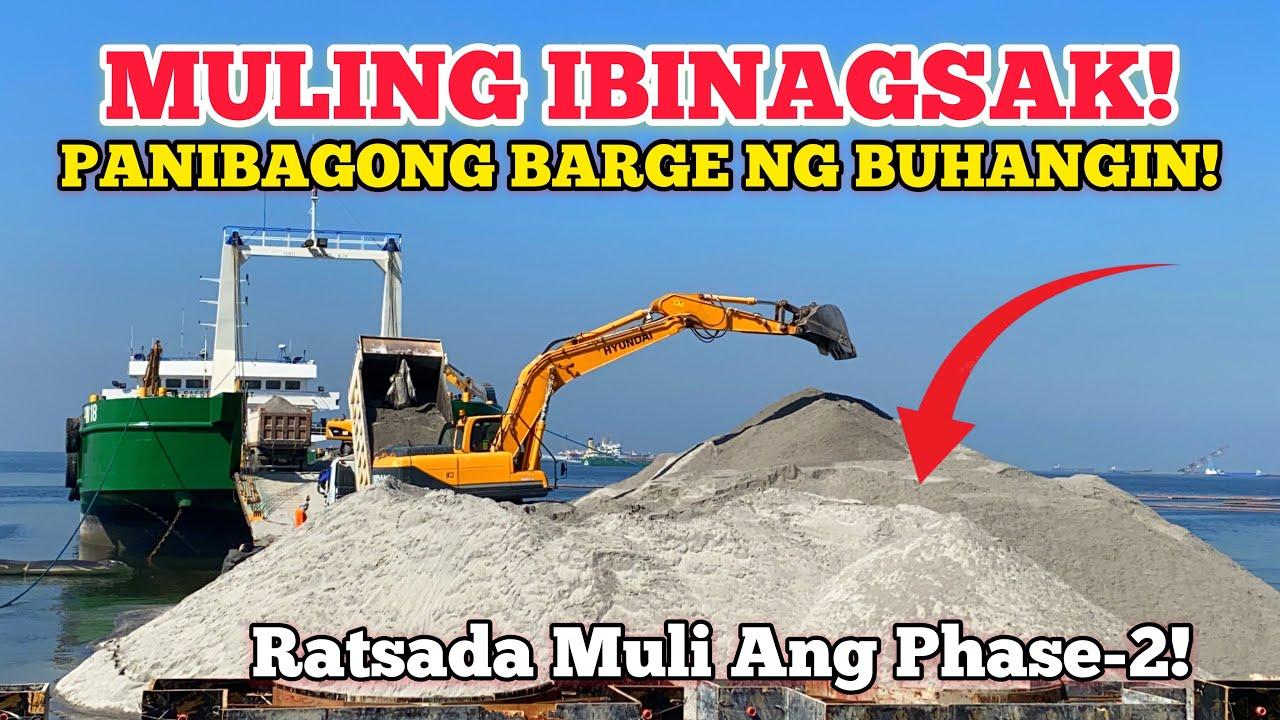 MULING IBINAGSAK PANIBAGONG BARGE NG BLACK SAND!