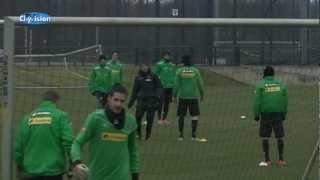 Borussia Mönchengladbach trainiert für das Spiel gegen Fenerbahce Istanbul