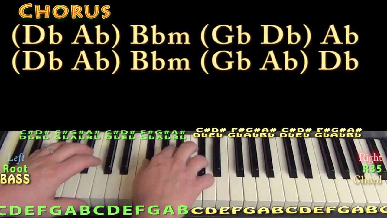 one call away chords piano pdf