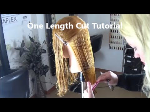 Captivating One Length Cut Tutorial