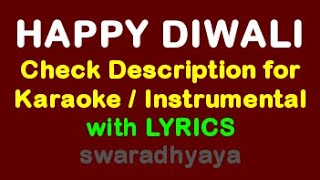 Happy Diwali Karaoke track