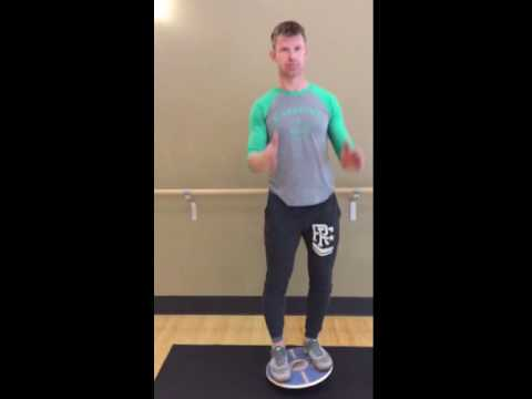 Balance Board Exercise #10: Catch the Ball