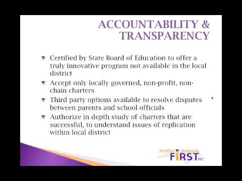 Charter Schools in North Carolina: History and Issues, April 24, 2014