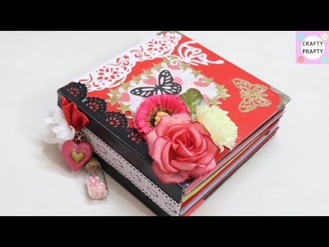 Valentine's Day Scrapbook Tutorial/How to make Scrapbook/DIY Scrapbook Tutorial/ Scrapbook Ideas