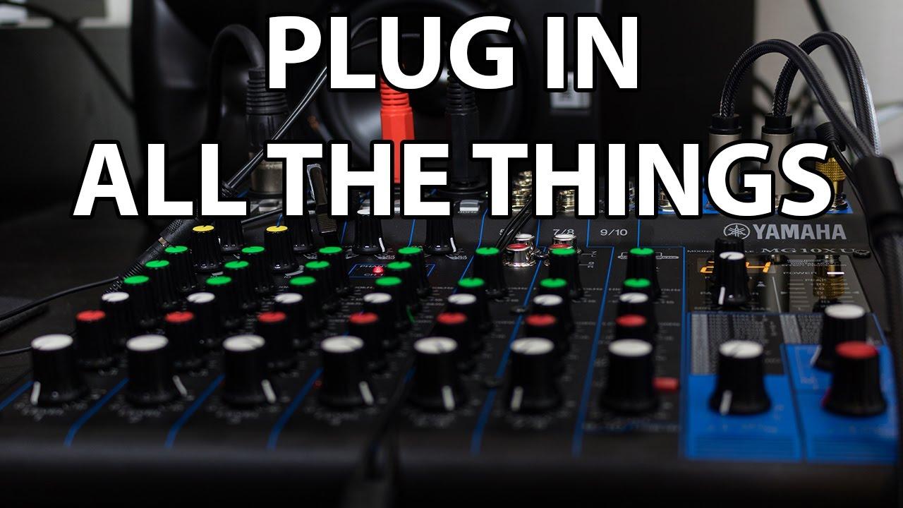 New Mixer Yamaha Mg10xu Demo Youtube