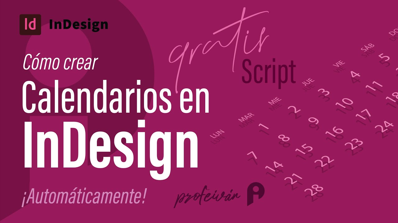 Cómo crear un calendario automáticamente en InDesign - YouTube