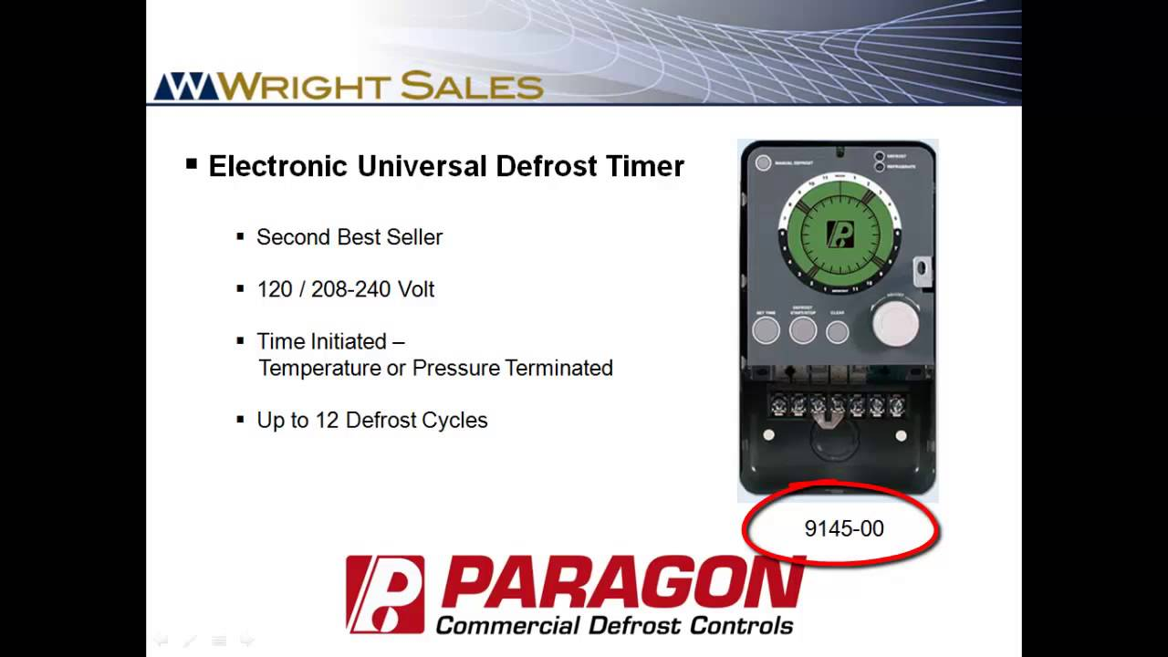 Paragon Defrost Timers 8145 and 9145 Overview - YouTube