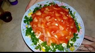 Салат КРАСНАЯ ШАПОЧКА Очень вкусный !!!