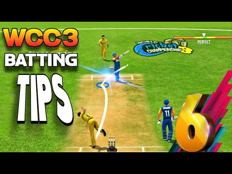 🔥 WCC3 Batting Tips With New Control Tutorial ! How To Hit Six On Evry Ball !!