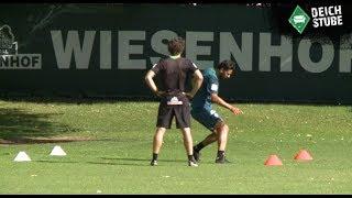 Pizarro bei seinem ersten Werder-Training - mal wieder
