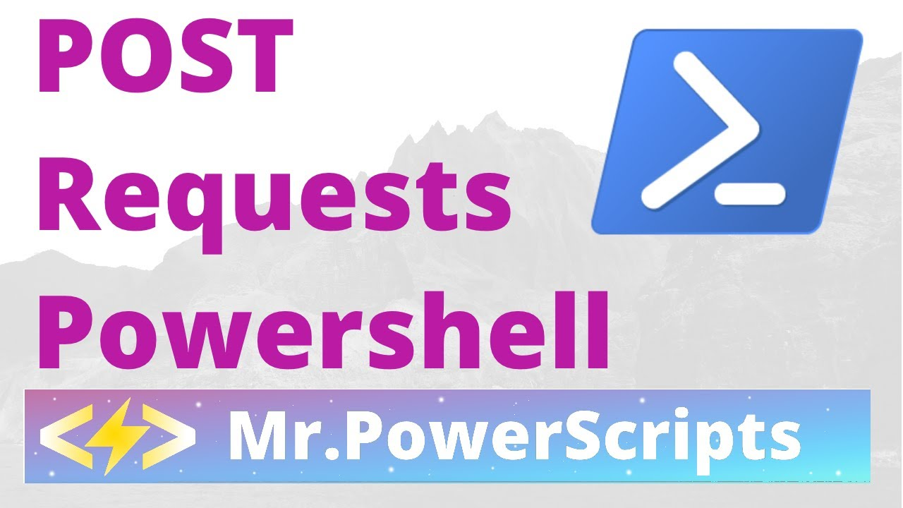 POST Request to REST API with Powerhsell !