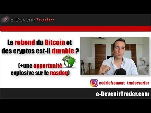 Le rebond du bitcoin et des cryptos est-il durable? (+une opportunité explosive sur le nasdaq)