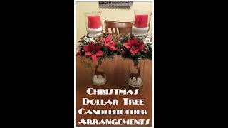 Tricia's Creations: Christmas DollarTree Candleholder Arrangement