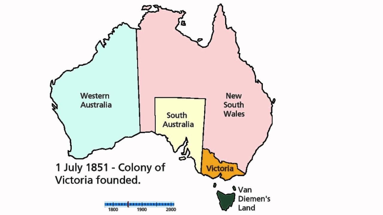 Territorial History of Australia YouTube – Map of the States of Australia