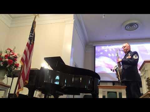 National Anthem on tenor sax