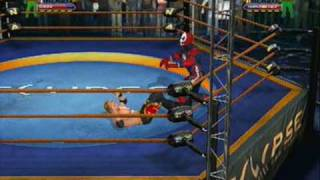TNA iMPACT (Ps3) Online Ultimate X Match by InFeRnO