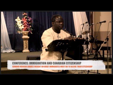 Conference: Immigration And Canadian Citizenship