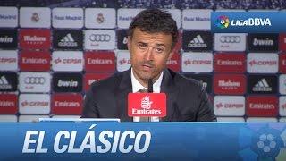 Rueda de prensa de Luis Enrique tras el Real Madrid (0-4) FC Barcelona