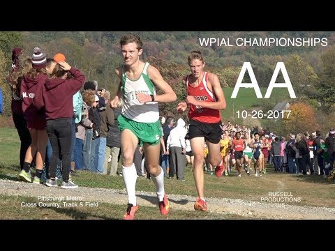 2017 WPIAL Championships  AA Boys XC and AWARDS  10 26 17 Russell