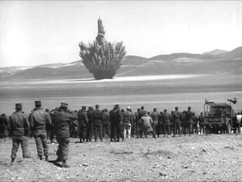 Atomic Bomb Explosion Test Footage : The 1950s Atom Soldier - CharlieDeanArchives
