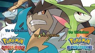 Pokemon Omega Ruby/Alpha Sapphire - Battle! Cobalion/Virizion/Terrakion Music (HQ)