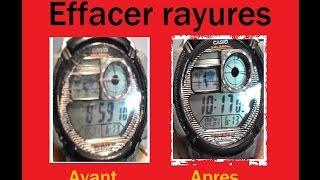 Effacer les rayures d'une montre