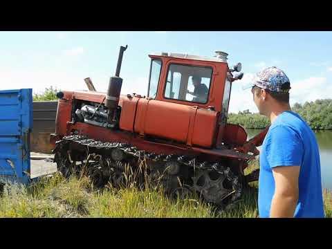 Трактор ДТ-75 сходит НА ЗЕМЛЮ!