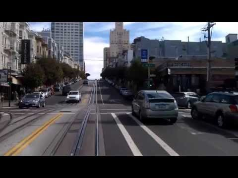 Riding the California St Cable Car - San Francisco Cable Car System - San Francisco California